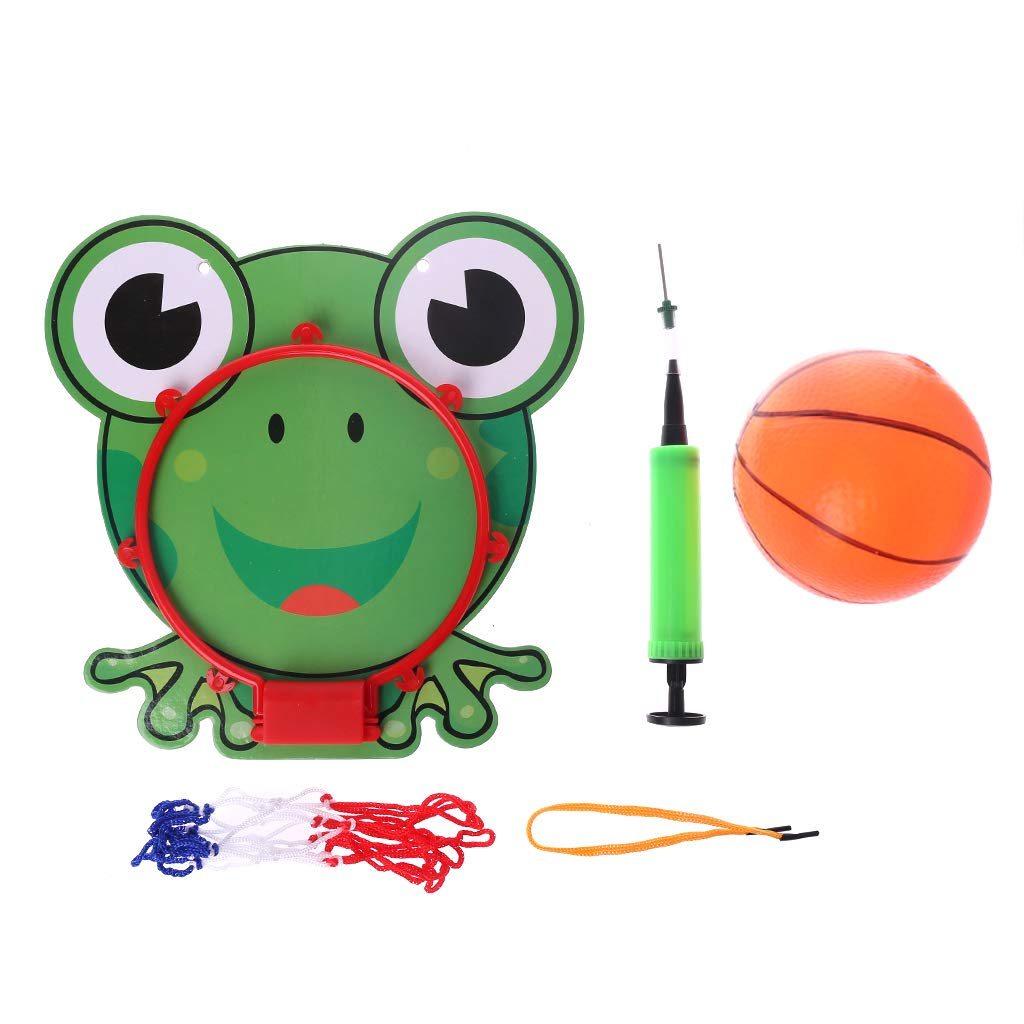 Jiamins Mini Kit de Basket Portable Jouet de Basket pour Enfant, Panier de Basket+ Filet de Basket + Basket-Ball avec Pompe à Air Panier de Basket+ Filet de Basket + Basket-Ball avec Pompe à Air