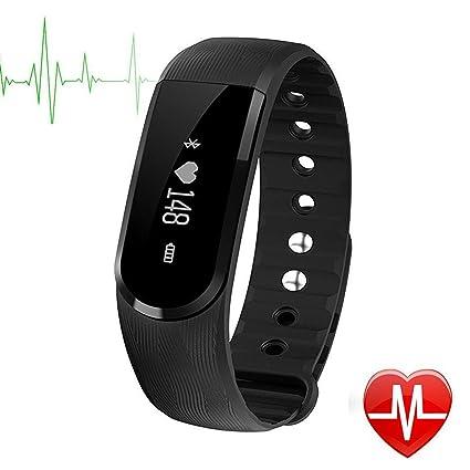 Pulsera de Fitness,CAMTOA ID101HR Touchscreen OLED IP67 Impermeable Bluetooth 4.0 Fitness Tracker/Pulsera de Actividad - Monitor de pulso ...