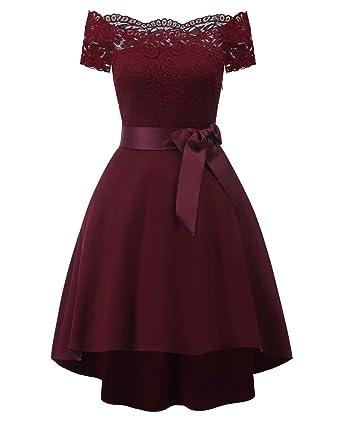 material seleccionado calidad primero últimos lanzamientos KAXIDY Mujer Vestidos de Fiesta Vintage Encaje Coctel Ropa Elegante Vestido  de Novia