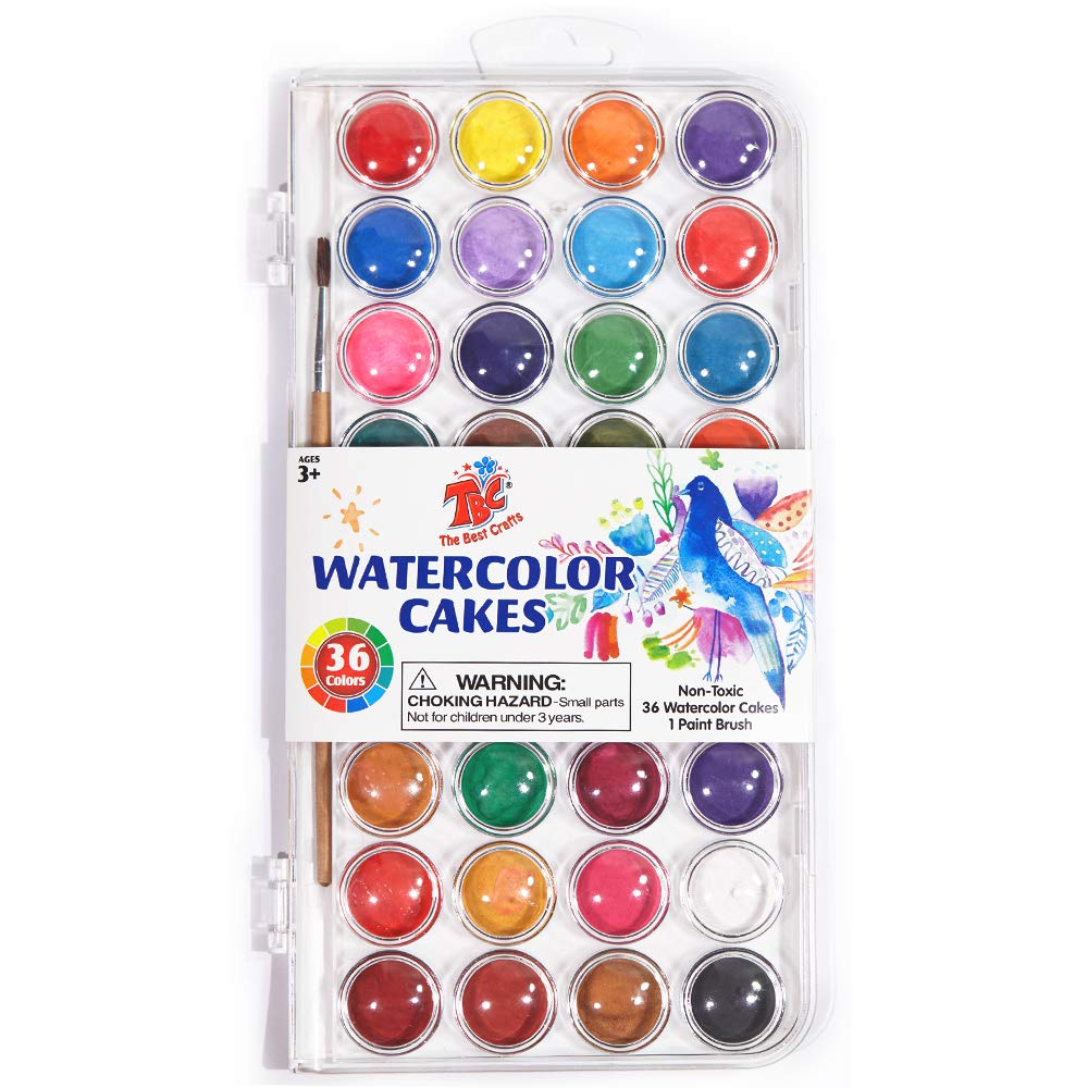 Children and Art Lovers. AROIC 48 Colors Watercolor Paint Set Includes a Brush and a Refillable Water Brush Pen The Best Gift for Beginners