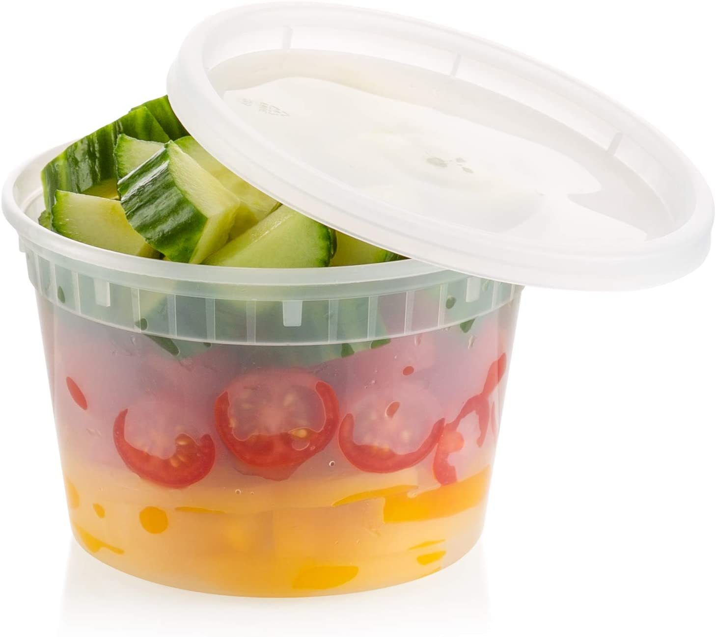ZEML 16 oz. Deli Food Storage Containers With Leak-proof Lids - 24 Sets