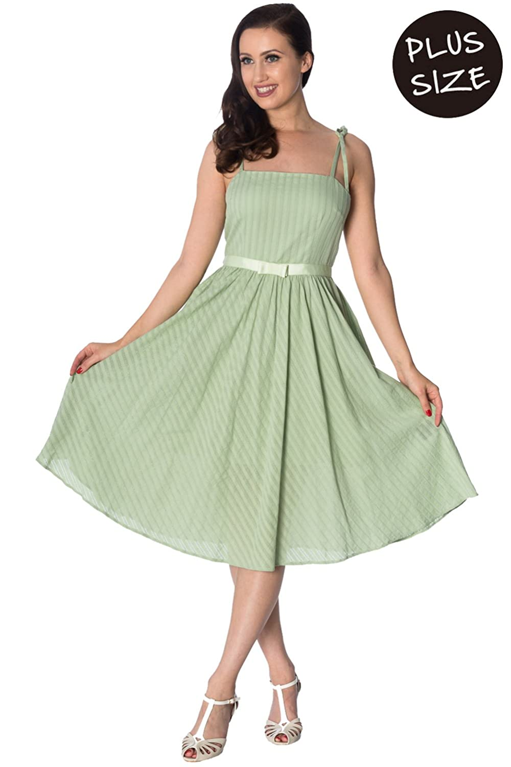 9cc35d50bd5c6 Banned Apparel Make A Wish Strappy Sundress Plus Size 4XL/Green at Amazon  Women's Clothing store: