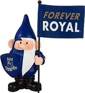 "Rico Industries, Inc. Royals 10"" Garden Gnome Flag Holder Outdoor Statue Decoration Baseball"