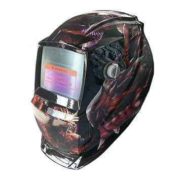 Casco de soldadura ARC TIG MIG y auto oscurecimiento solar máscaras de molienda: Amazon.es: Coche y moto
