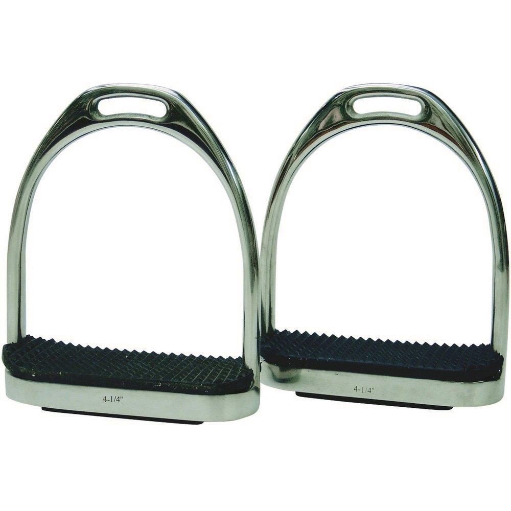 Black UK Size  115mm Black UK Size  115mm ProTack Stirrups Fillis With Black Treads (UK Size  115mm) (Black)