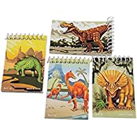 US Toy - Assorted Dinosaur Theme Mini Spiral Notebook Memo Pads (2-Pack of 12)