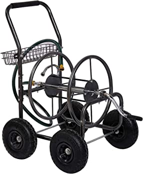 Fit Right Hose Reel Cart with 4 Wheels