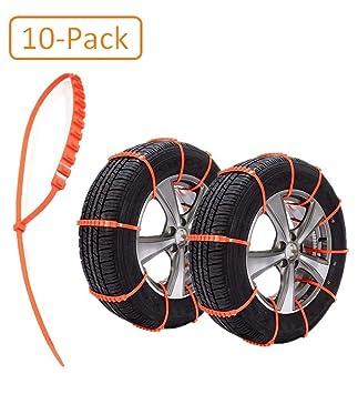 Car*World - Juego de 10 Cadenas para neumáticos de Coche multifunción para Coches Pickup