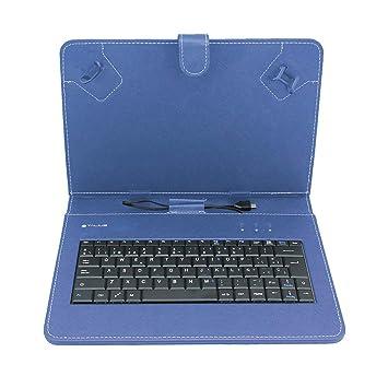 """Talius CV-3004 - Funda Tablet 10"""", Teclado, Color Azul"""