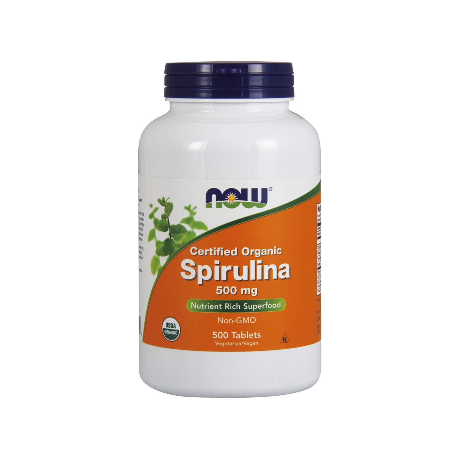 Now Foods Organic Spirulina Tablets, 500