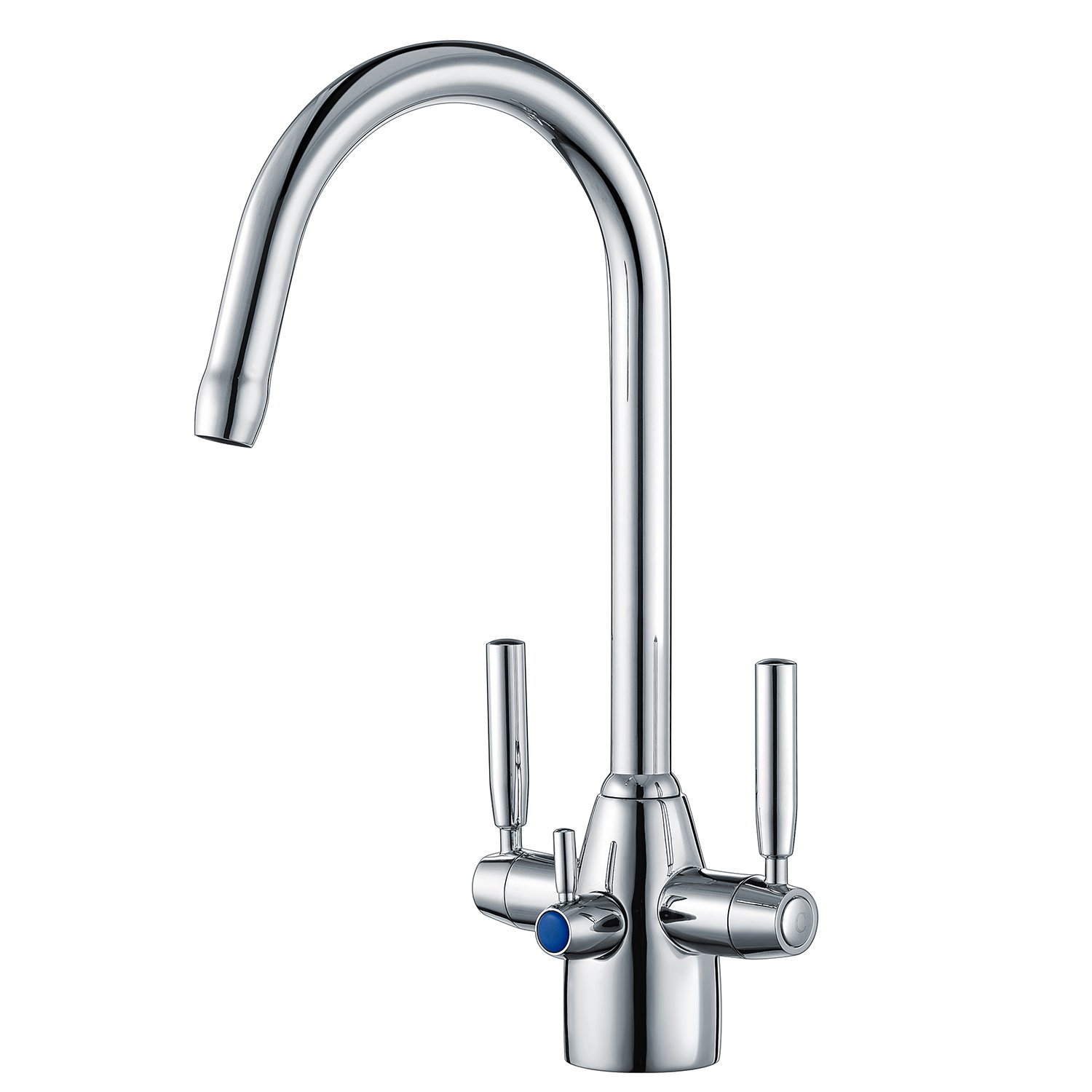 sink system water filter one brondell counter single faucets with under faucet coral stage view left