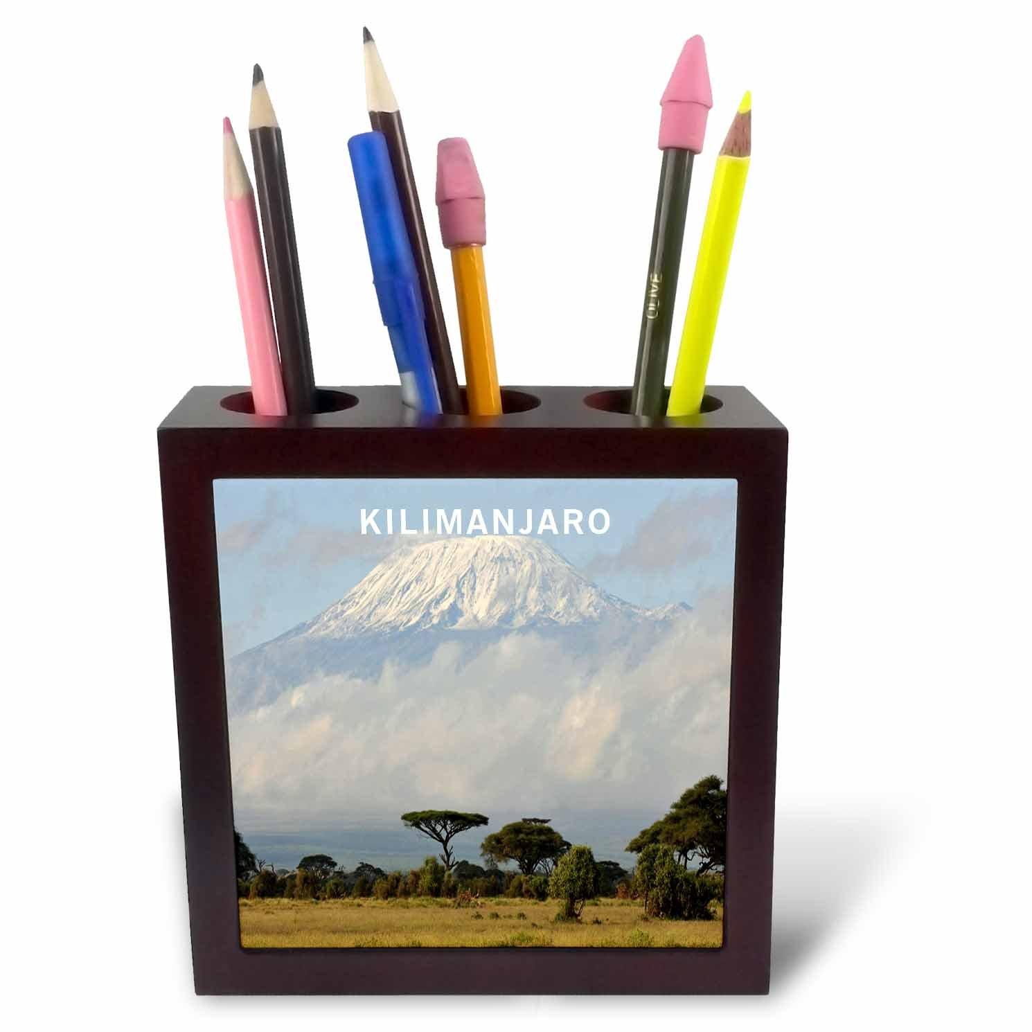 5-Inch 3dRose ph/_80784/_1 Africas Mount Kilimanjaro Tile Pen Holder
