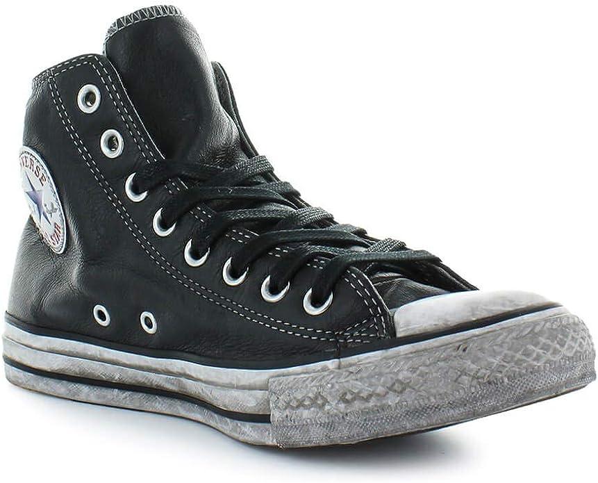 Converse Homme 158575c Noir Cuir Chaussures