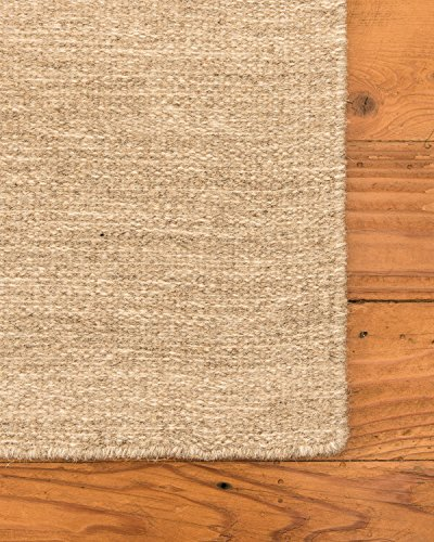 NaturalAreaRugs Vegas Natural Wool Fiber Area Rug, Handmade, 80 Percent Wool and 20 Percent Cotton, Anti-Static, Naturally Durable, 8' x 10' Wheat Fine Sisal Rug