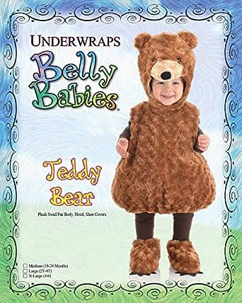 Underwraps Toddlers Teddy Bear Belly Babies Costume