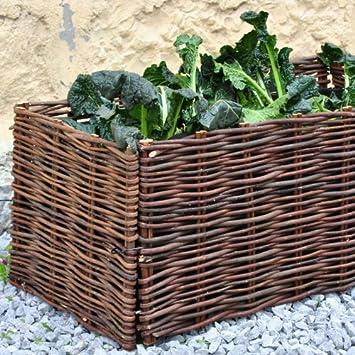 Hochbeet Gartenbeet Pflanzenbeet Beet Aus Weide 100x40x40cm Inkl
