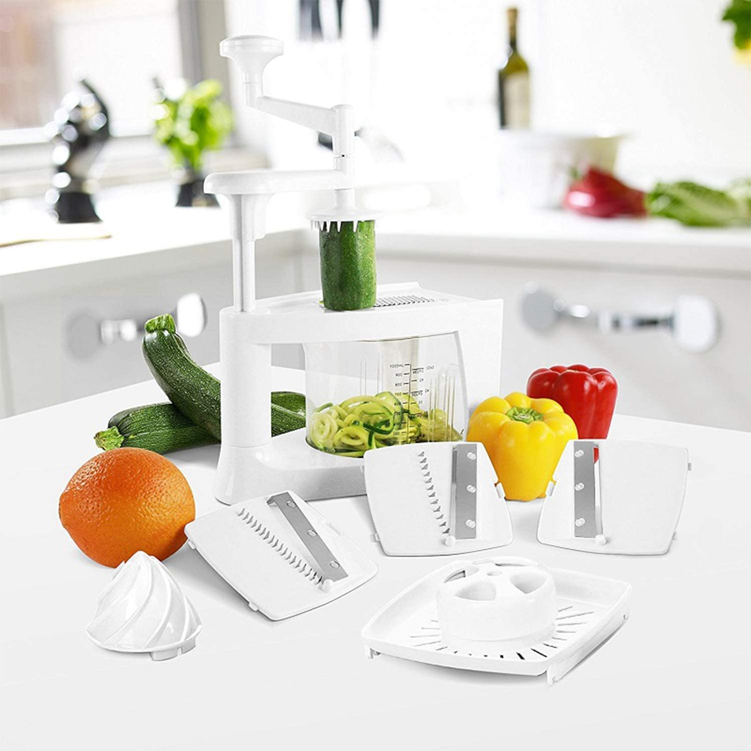 Evospire 8 in 1 Spiralizer Kitchen Evolved Package, Low Carb diet? Need to Make Vegan or Vegetarian food? No Problem! Eat Healthier Food Today in Seconds!