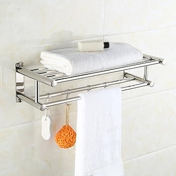 MAIKA HOME - Estantería baño Barra Doble Inodoro Inodoro Inodoro Inodoro toallero de Hotel Toalla de baño (40cm): Amazon.es: Hogar