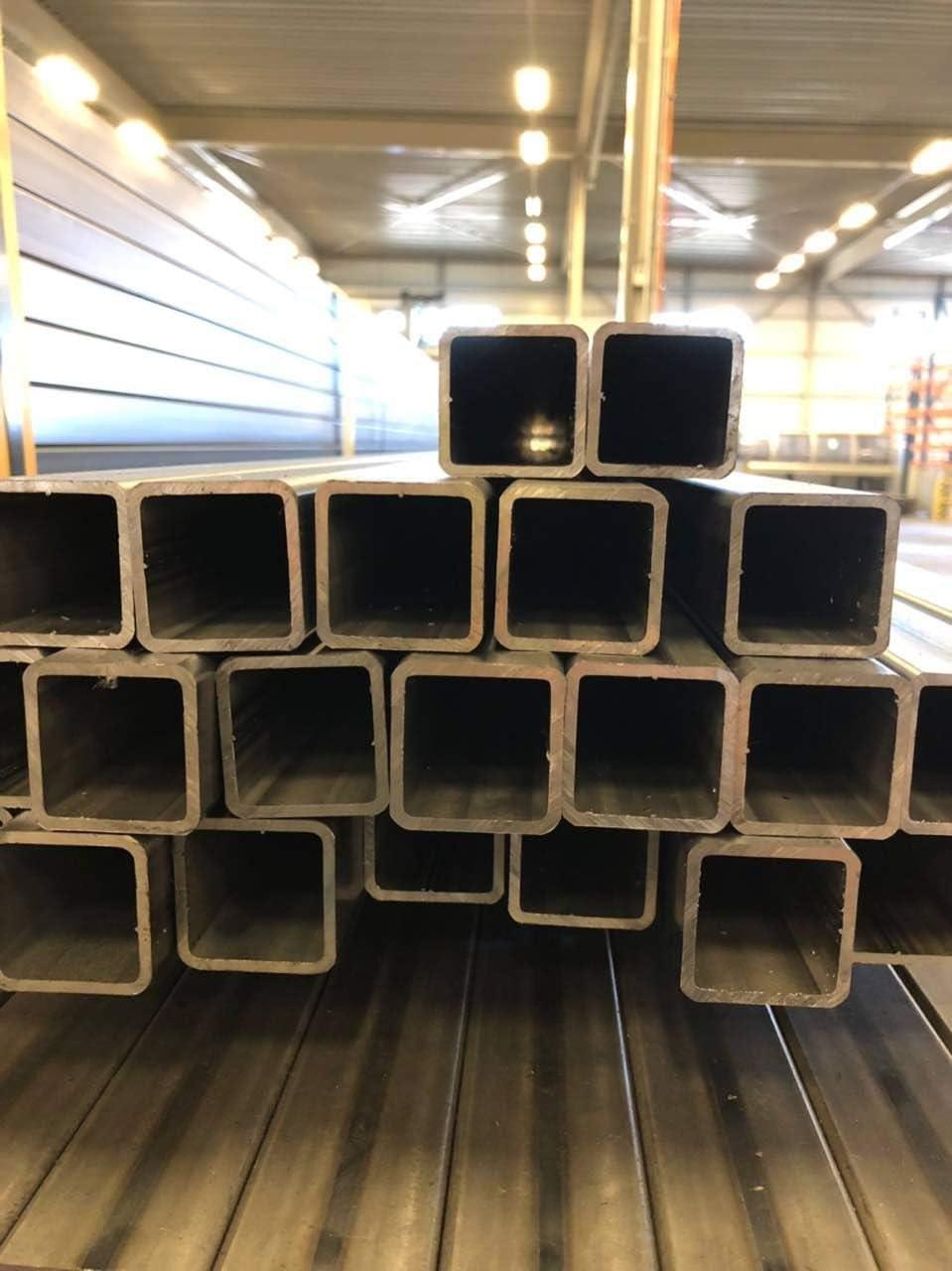 di/ámetro 40 x 25 x 2 hasta 100 x 100 x 3 St33 Tubo cuadrado de acero perfil hueco