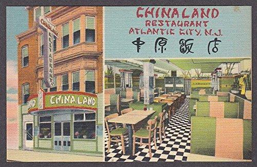 China Land Restaurant Atlantic City Nj Postcard 1950s At
