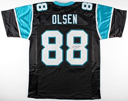 info for 281cb 9ad6c Greg Olsen Autographed Signed Carolina Panthers Jersey ...