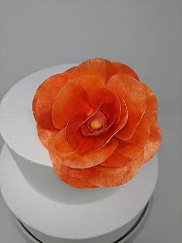 Amazon 3d Edible Rice Paper Coral Rose Flower For Cake