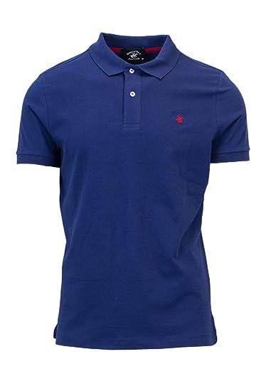 21a784bdc60e Beverly Hills Polo Club Men's 17400176 Blue Cotton Polo Shirt:  Amazon.co.uk: Clothing