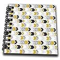 3dローズAnne Marie Baugh–点線パターン–イエロー、ホワイト、ブラック、右矢印パターン–Drawing Book 4x4 notepad db_264944_3