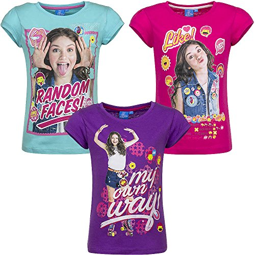 Soy Luna - Girls' T-Shirts - QE1481 [Azzurro - 6 anni - 116 cm]:  Amazon.co.uk: Clothing