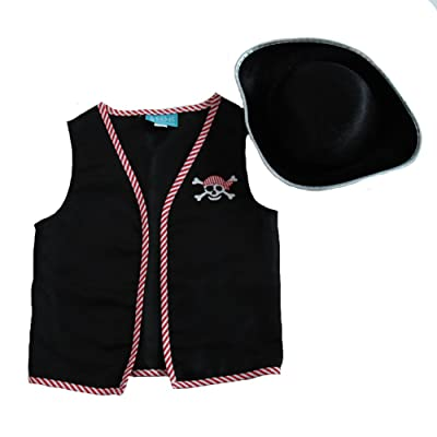 Making Believe Kids Basic Pirate Accessory Dress Up Kit - Vest & Hat (Choose Size): Health & Personal Care