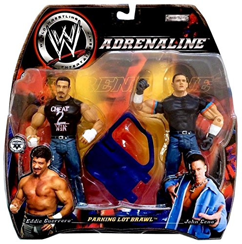 EDDIE GUERRERO vs. JOHN CENA - WWE Wrestling Adrenaline Series 5 Figure 2Pack by Jakks (John Cena Vs Eddie Guerrero Parking Lot Brawl)