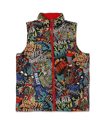- Nike SB Boy's 8-20 (Skateboarding) Reversible Sleeveless Vest Jacket Limited Edition (Large, Grey)