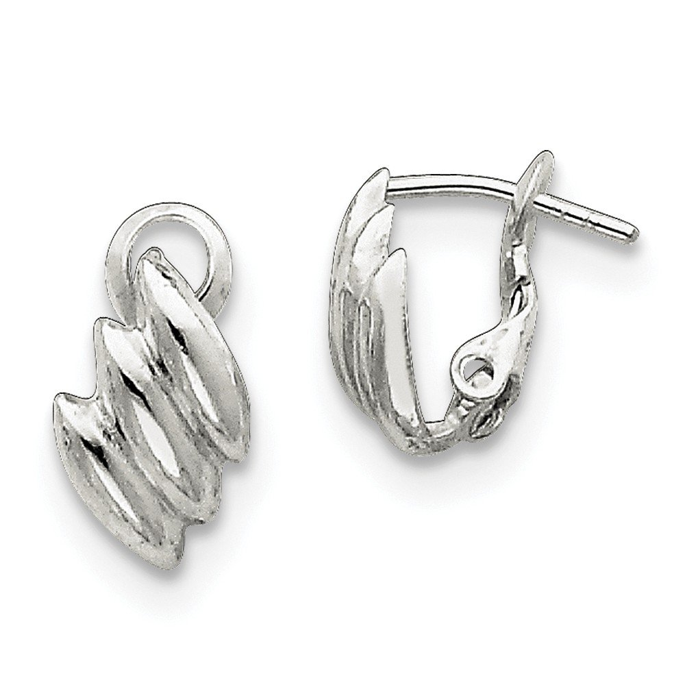 Sterling Silver Clip-back Earrings (Approximately 16 x 9mm)