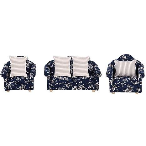 Excellent Amazon Com 1 12 Scale Dollhouse Accessories Flower Pattern Dailytribune Chair Design For Home Dailytribuneorg