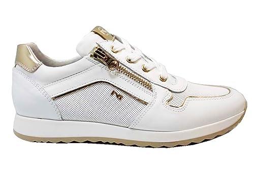 Nero Giardini Junior P830020F Bianco e Oro Sneakers Scarpe Donna Calzature   Amazon.it  Scarpe e borse 475760e0013