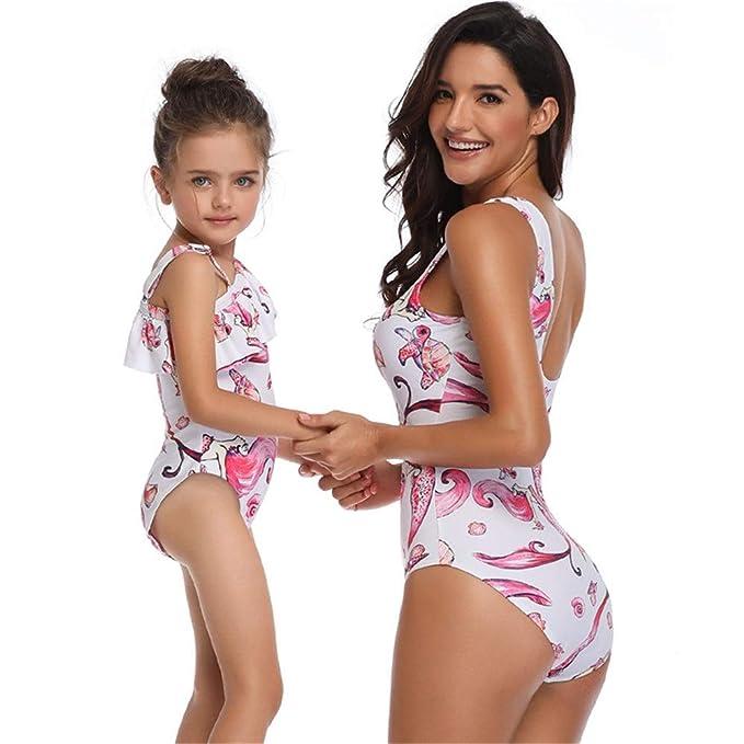 Qiusa Maillot de Bain président Maillot de Bain Bikini Fendu Taille S Blanc coloré : comme montré, Taille : Taille Unique