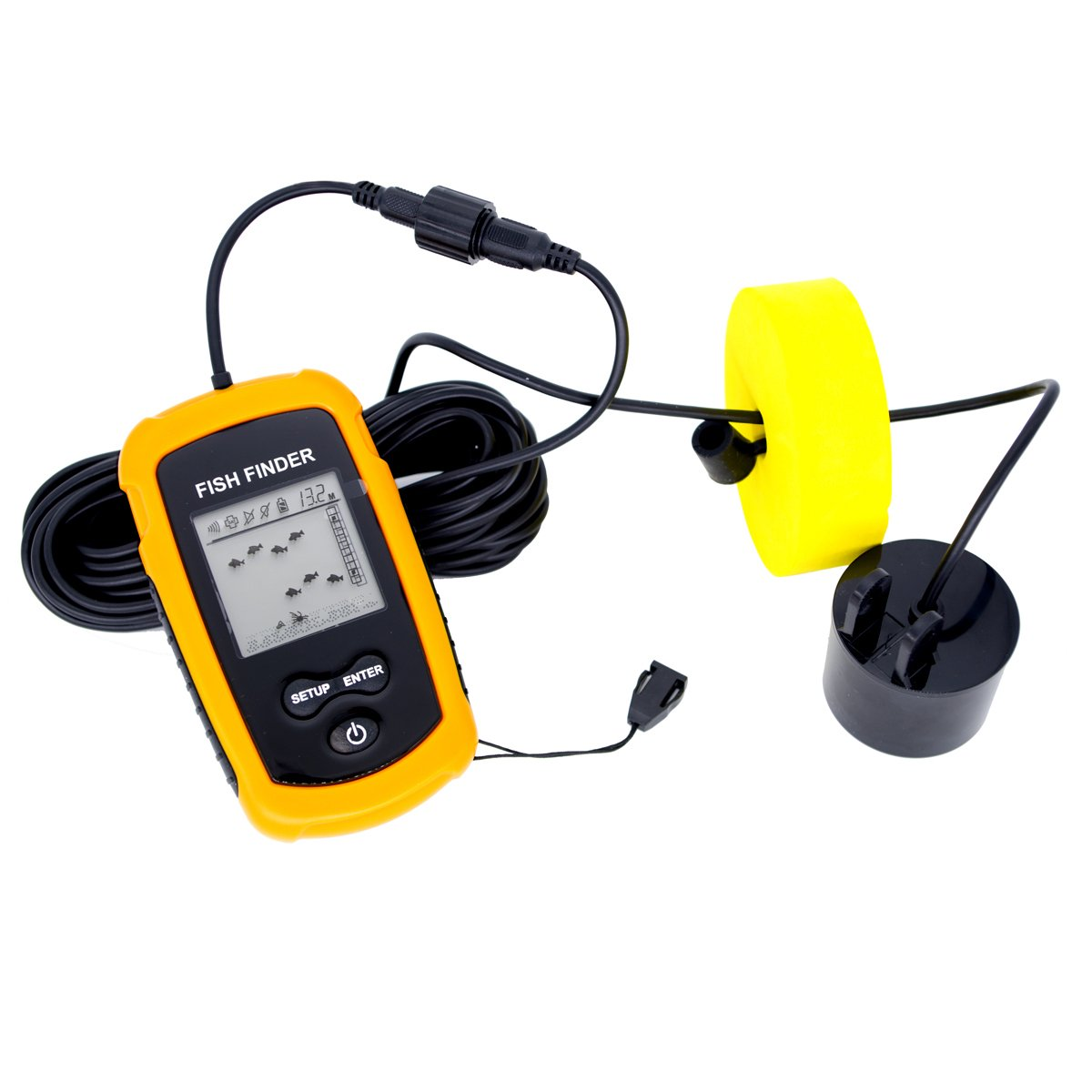 Venterior VT-FF001 Portable Fish Finder, Fishfinder with Wired Sonar Sensor Transducer and LCD Display by Venterior (Image #2)