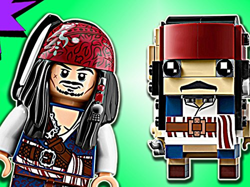 Clip  Captain Jack Sparrow Brickheadz