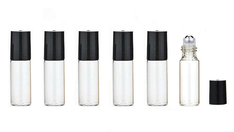 6pcs 5 ml/4, 8 gram vetro trasparente vuoto refill Essential oil Roll-On rulli da imballaggio bottiglie in acciaio INOX con roller balls profumo trucco cosmetici contenitori lip Balms del vaso vasi Upstore