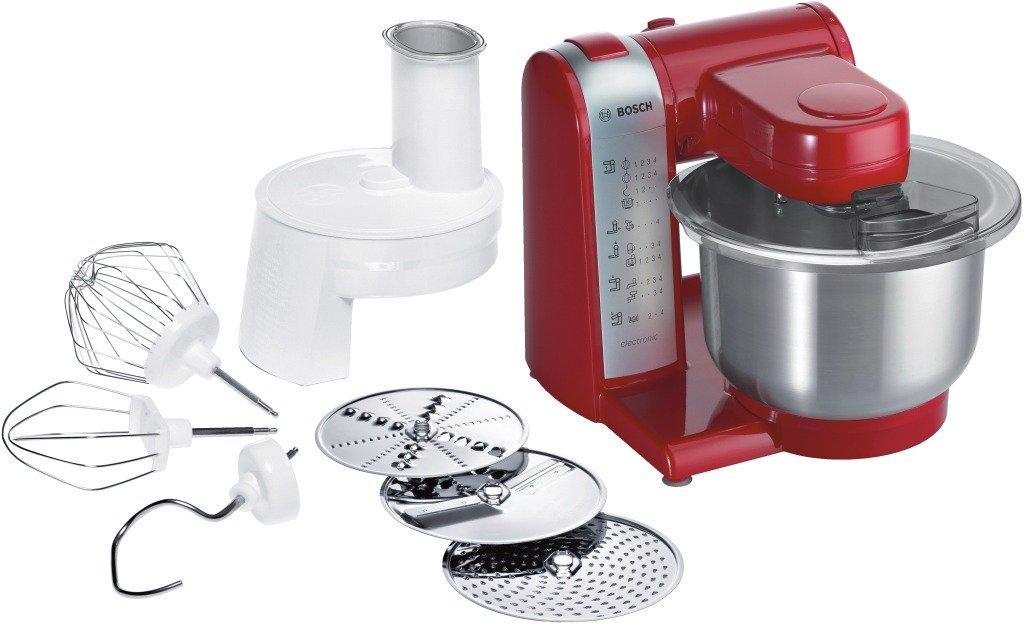 Bosch MUM48R1GB Kitchen Machine, 600 W, 3.9 L - Red/Silver [Energy Class A]