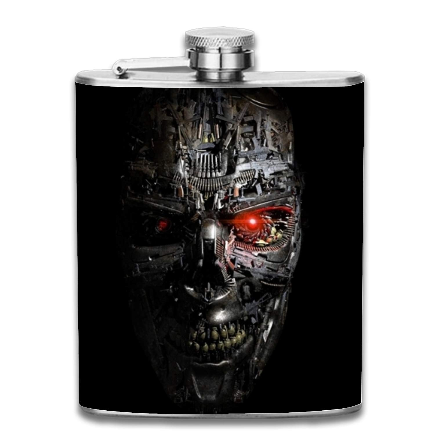 Pink Flowers Portable 304 Stainless Steel Leak-Proof Alcohol Whiskey Liquor Wine 7OZ Pot Hip Flask Travel Camping Flagon for Man Woman Flask Great Little Gift Multicolor3