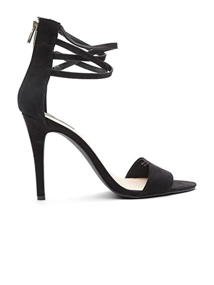 5b8e350be0a FOREVER 21 Women Black Slim Heels (8UK)  Buy Online at Low Prices in ...