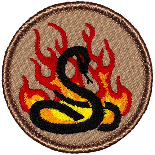 - Flaming Black Mamba Patrol Patch - 2