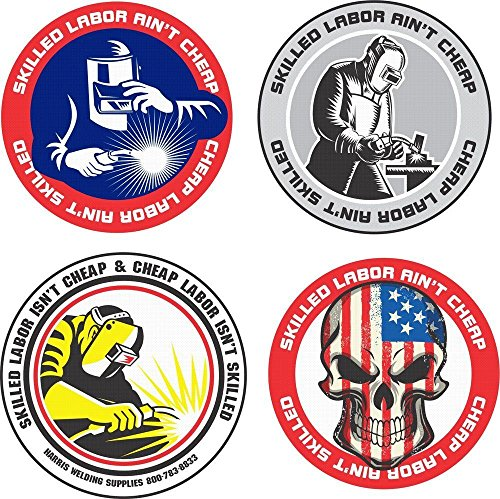 Set of Four (4) Best Seller Funny Hard Hat Stickers - USA Union