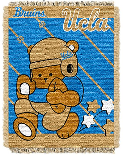 UCLA OFFICIAL Collegiate, Fullback Baby 36 x 46 Triple Woven Jacquard Throw