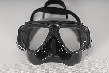 Ultra bajo volumen Negro Máscara de buceo adulto máscara de buceo óptico lente de cristal templado