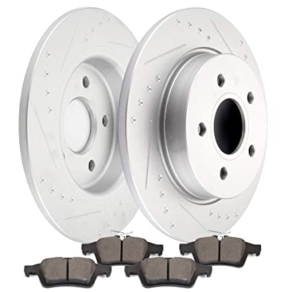 Brakes And Rotors >> Amazon Com Ocpty Brakes And Rotors Set With 2 Front Brake
