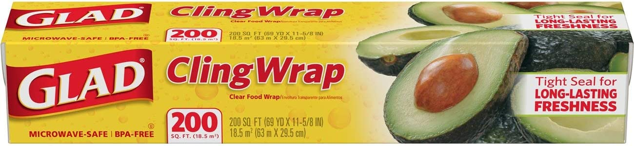 Glad ClingWrap Plastic Food Wrap - 200 Sq. Ft (Pack of 12)