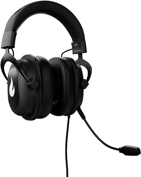 Flamefall Ymir - Auriculares de Gaming HD con Drivers de 53 mm, Micrófono extraíble con cancelación de ruido y Cable reforzado, compatible con PC / ...