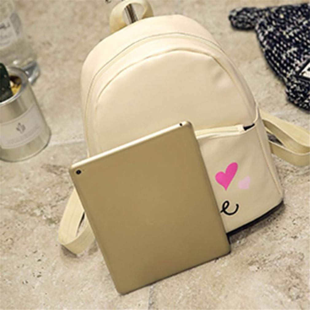 Amazon.com: Preppy Women Backpack PU Leather Mini Casual Letter Printed School Bags For Teenage Girls: Clothing